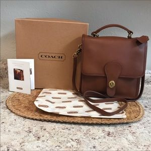 Vinage COACH Brief Bag with Box & Accessories